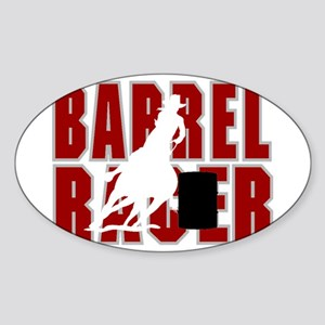 BARREL RACER [maroon] Sticker (Oval)